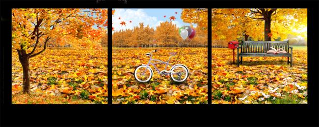 秋天风景无框画-风景无框画-无框画