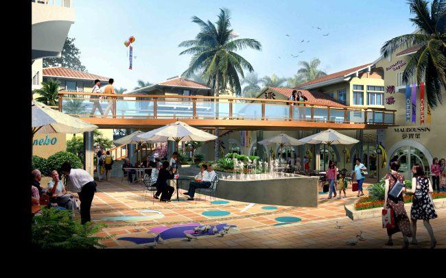 特色商业广场景观效果图 园林设计 其他