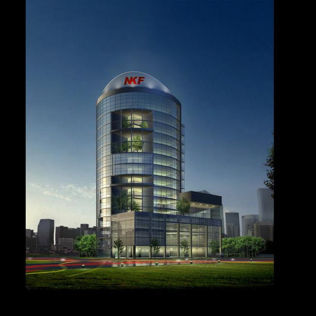 办公楼效果图   >办公楼效果图   建筑设计   室内装饰|无框
