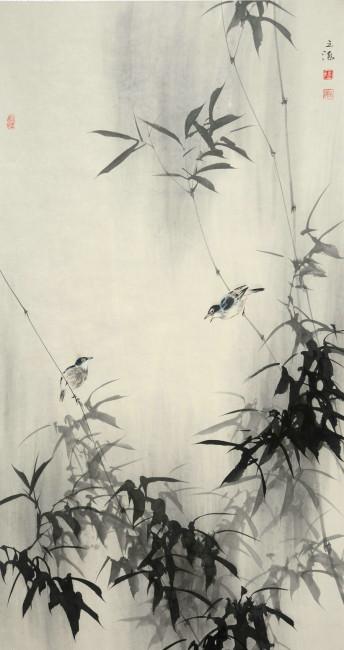 竹子 水墨画