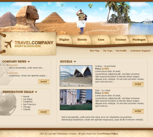 网页美工设计-个人网站模板-网站模板|flash源文件