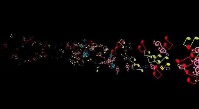 音乐符号动态视频背景素材