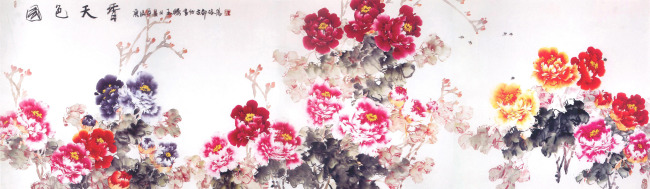 国画牡丹花 图片