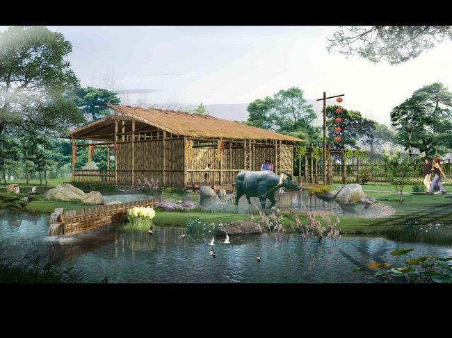别墅设计效果图图片 房地产景观园林设计ps