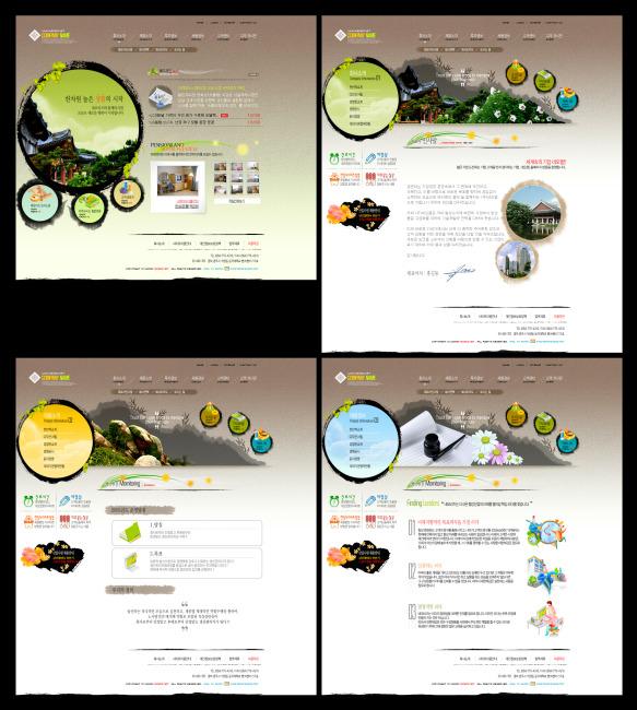 建筑艺术网站设计 建筑类网站 网页设计 网站界面美工 精致网页排版图片