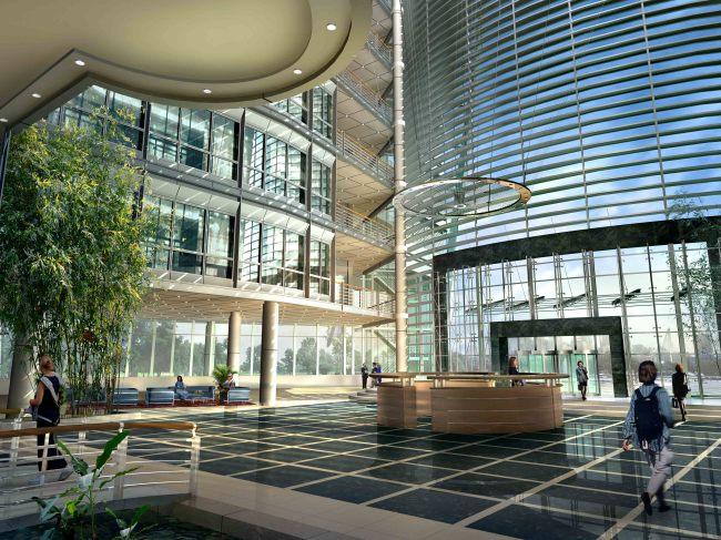 商业中心室内绿化景观效果图