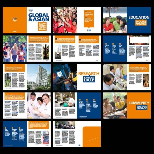 国外画册排版版式设计画册模板