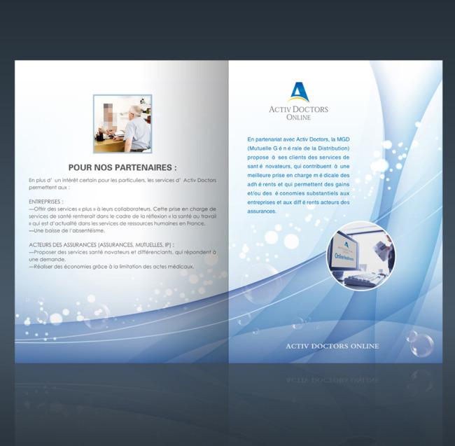 首页 正版设计稿 画册设计 企业画册(封面) >国外医疗宣传封面设计