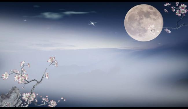 中秋节夜色月亮视频