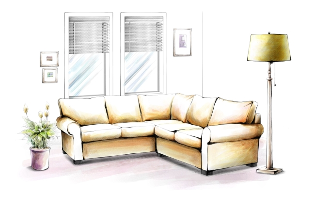 沙发一点透视图