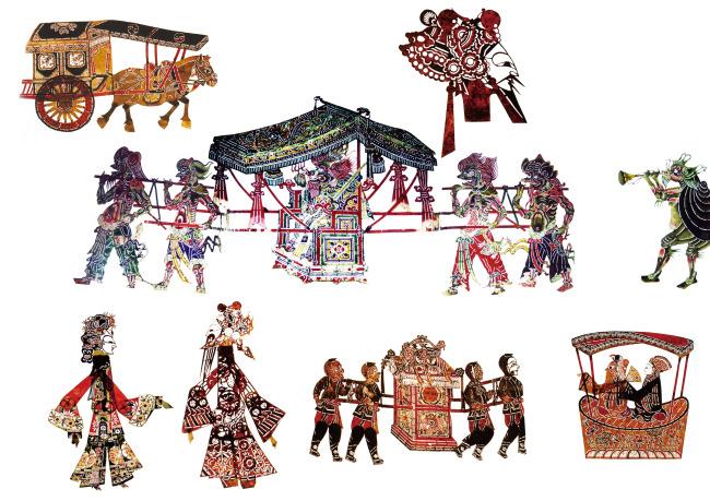 中国传统艺术皮影人物素材