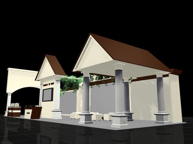 3d展厅展览设计-展台模型-3d模型下载|模型库|3d效果
