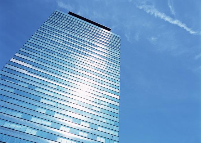 高楼仰视图片