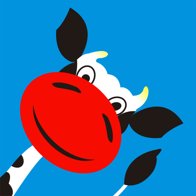 矢量插图-小牛-插画|元素|卡通-其他