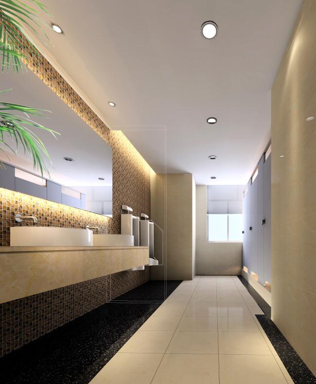 酒店卫生间洗手间过道设计效果图