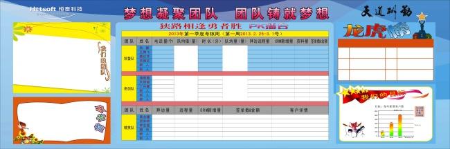 企业表格展板-展板背景(半成品)-展板设计