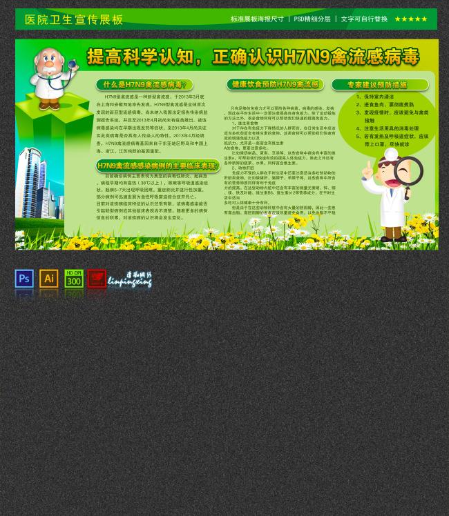 医院医疗卫生安全形象文化宣传展板设计