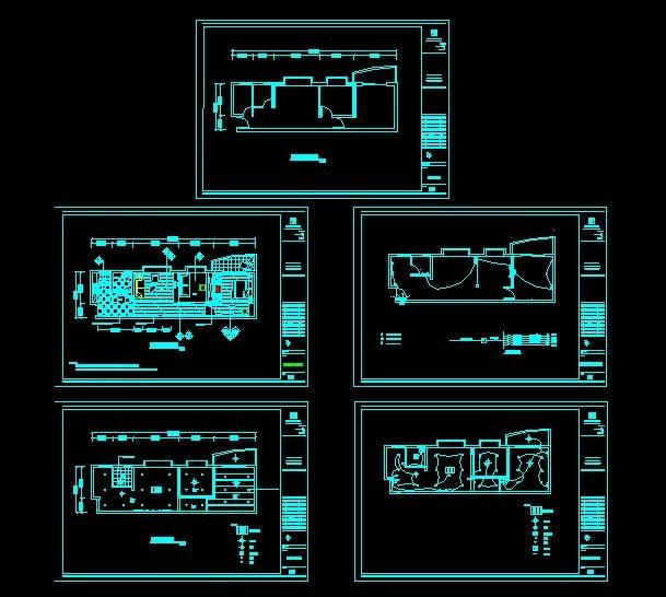 房屋水电布置图 cad图纸 室内装饰 无框画 背景墙
