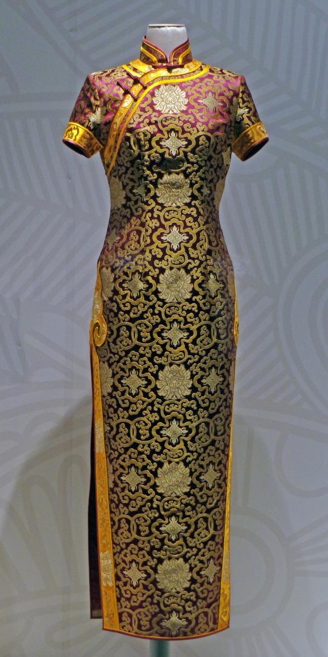 旗袍服装设计图基本画法展示