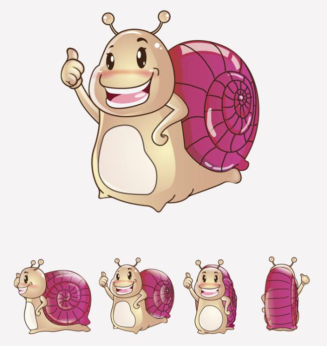 首页 正版设计稿 插画|元素|卡通 卡通形象 >蜗牛动物可爱卡通吉祥物