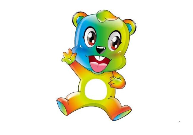 五彩小熊小熊动物可爱卡通吉祥物卡通