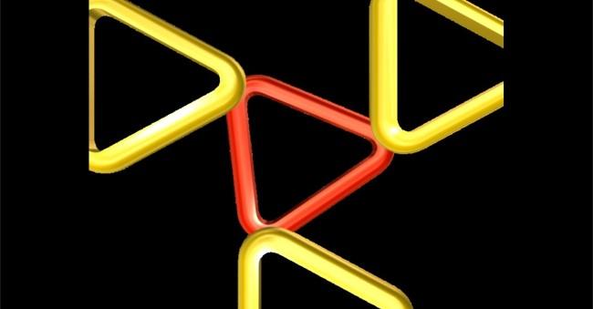 红黄色三角形动态素材