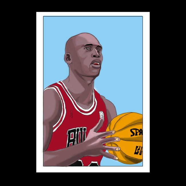 篮球题材卡通画