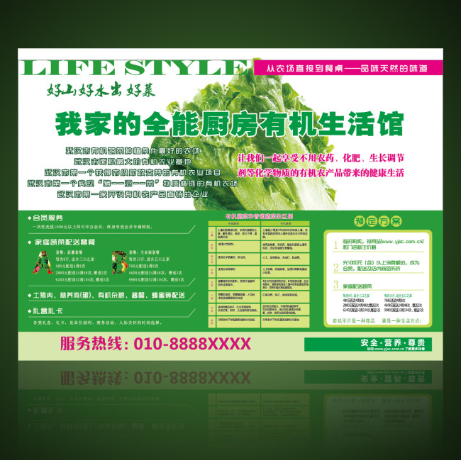 【ai】有机蔬菜展板设计模板