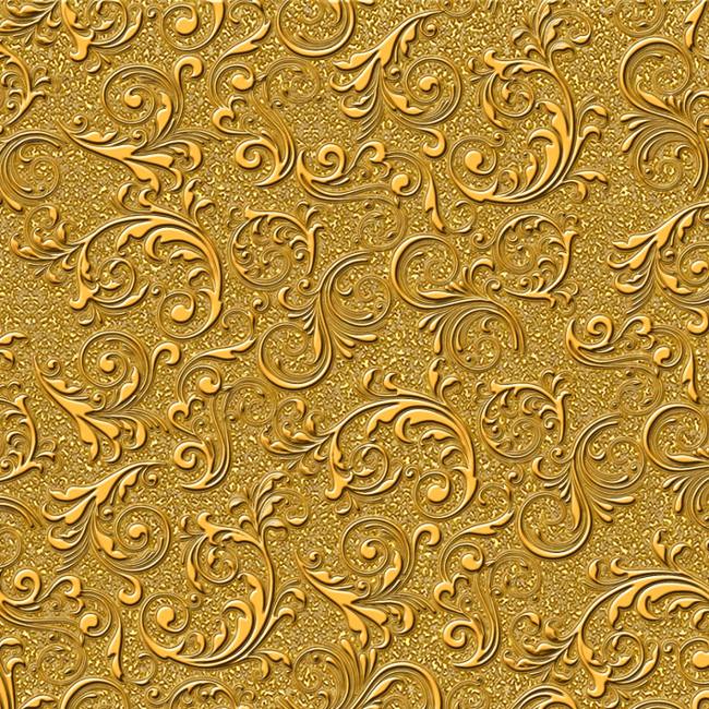 经典尊贵黄金欧式花纹素材