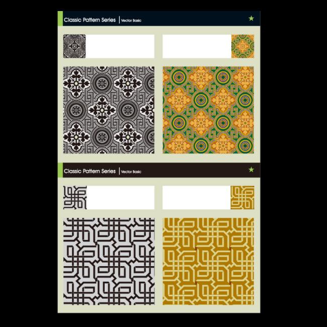 古典花纹四方连续图案花纹图案