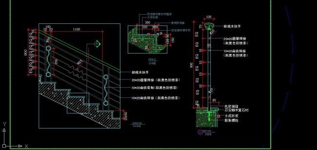 楼梯 消防梯 商场手扶电梯施工节点详图 c