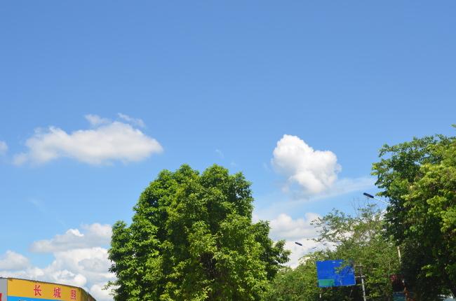 风景高清蓝天白云图片