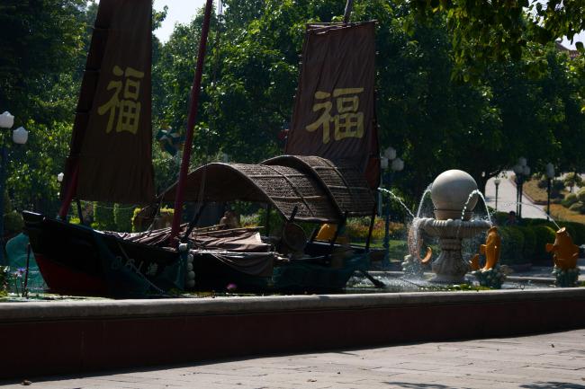 古代木船结构图
