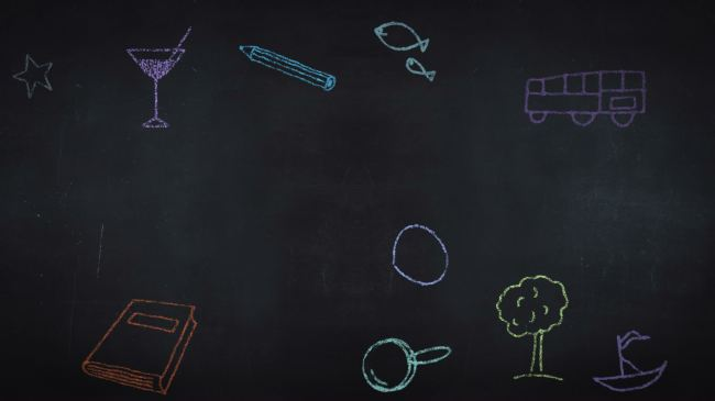 儿童动画铅笔画彩笔视频背景