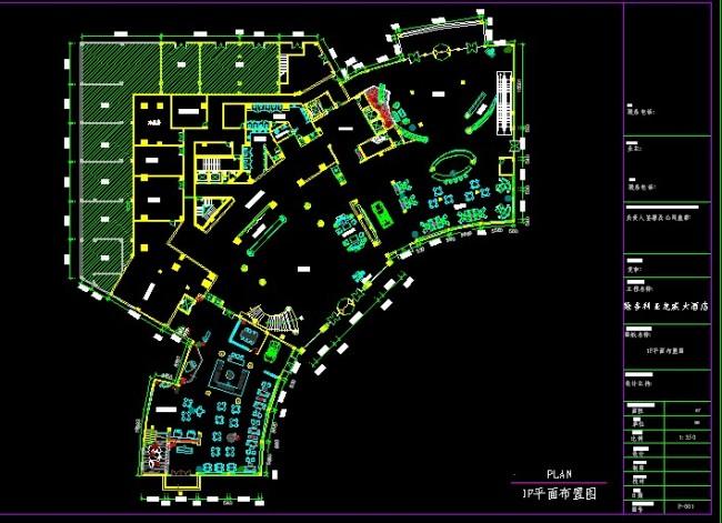 cad酒店设计图-工装施工cad图纸-cad图库