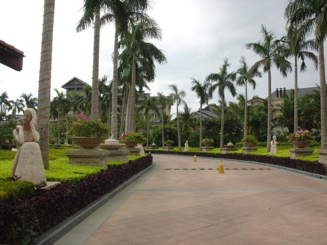 酒店入口雕塑园林景观-园林设计-室内装饰|无框画