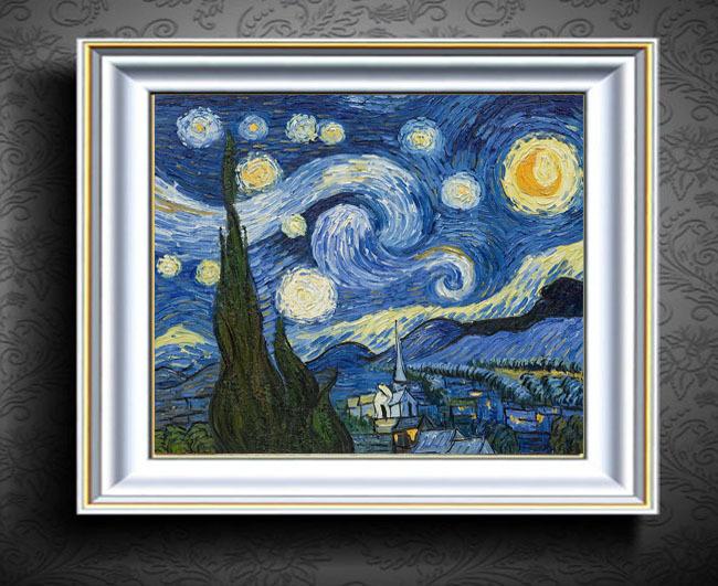 星空油画装饰画抽象画