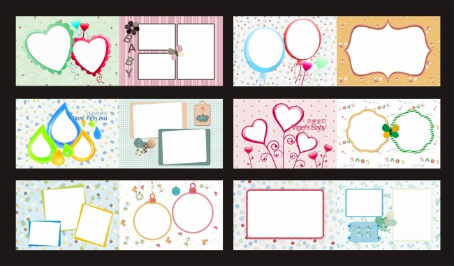 式:cdr 图片名称:儿童相册模板图片