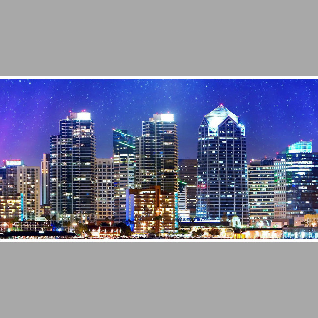 城市夜景led背景视频小品夜景-led视频素材-动态视频