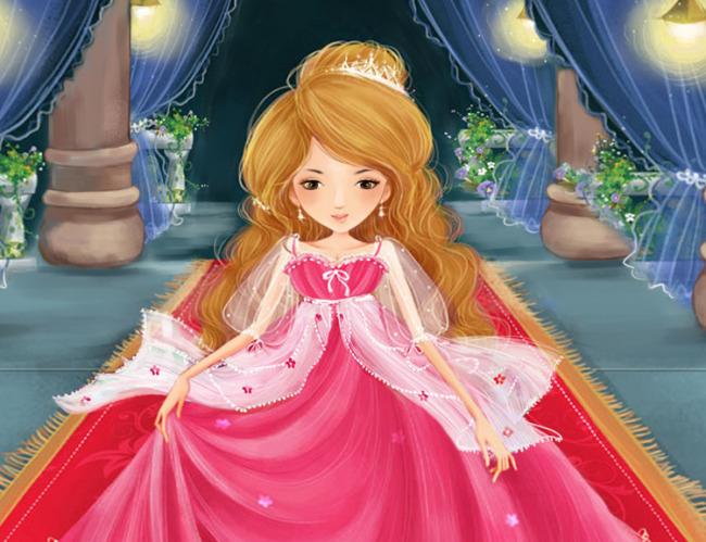 皇冠公主-人物插画-插画|元素|卡通