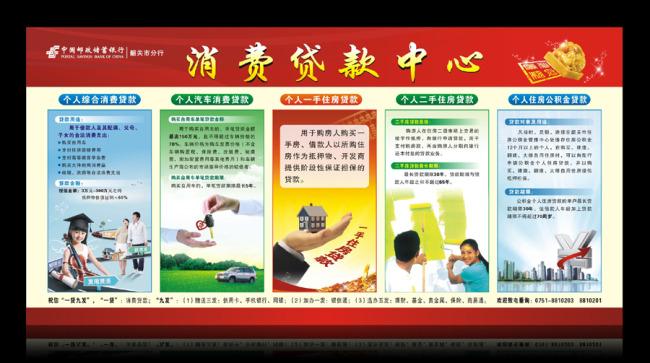 消费贷款宣传栏-企业展板设计-展板设计|党政|学校