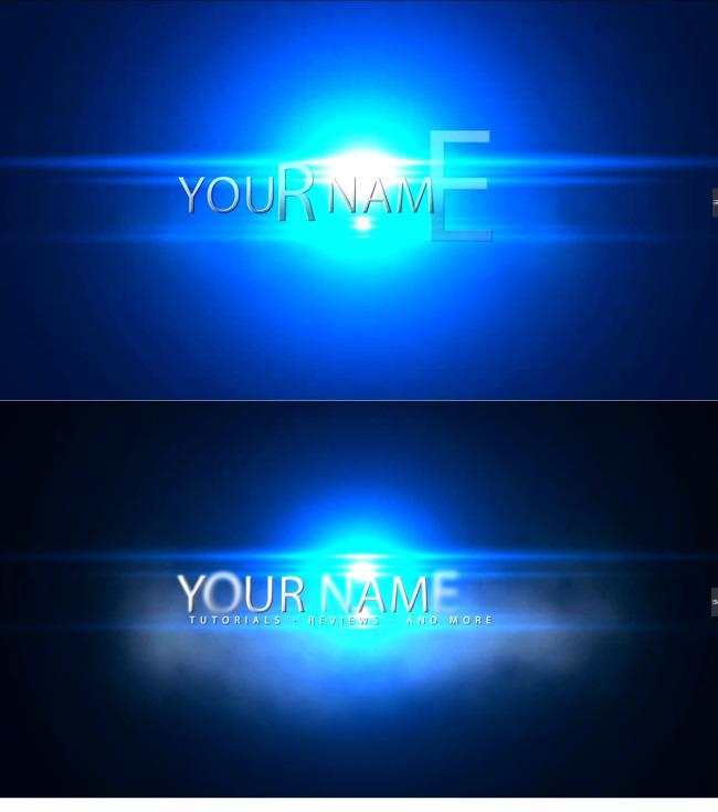 蓝色光效ae片头模板