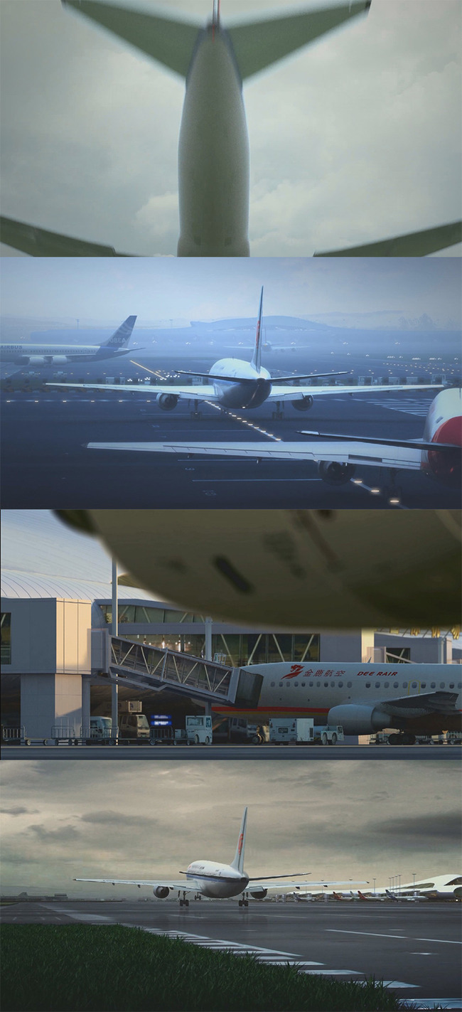 【mpg】实拍高清机场飞机起飞降落视频素材下载
