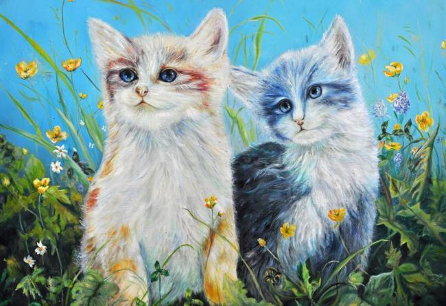 油画 抽象 装饰画 高清 动物图片