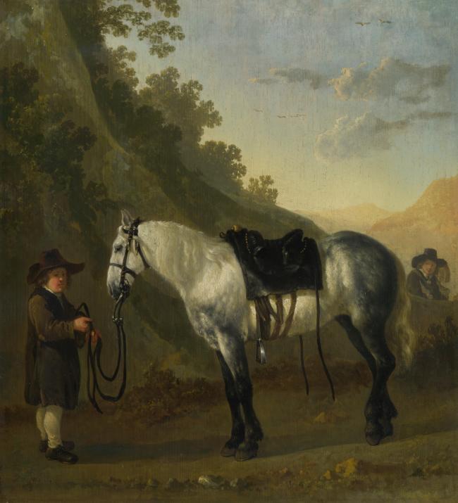 horse欧美欧式高清大师风景油画