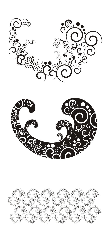 斑斓海浪花纹-插画|元素|卡通-其他