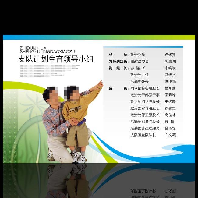 幸福家庭计划生育展板设计