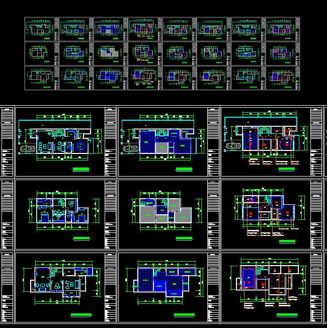 cad室内装修平面图 cad2007格式
