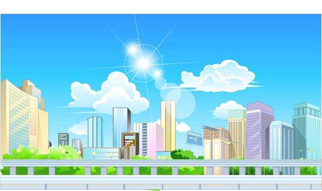 flash城市动画场景设计源文件图片