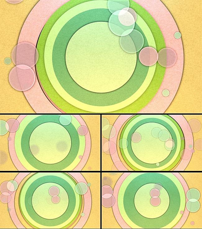 圆形动态背景视频